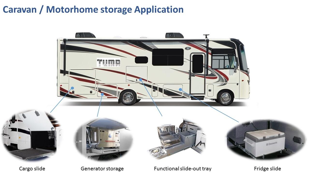 RV Storage Ideas Exterior Interior Heavy Duty RV Drawer Slides RV